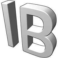 3D version: The letters IB
