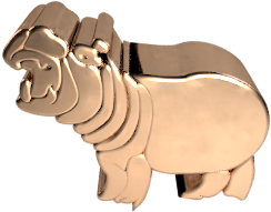 gold hippo